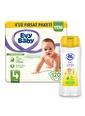Evy Baby Evy Baby Bebek Bezi 4 Beden Maxi 120 Adet ve Bebek Şampuanı Renkli